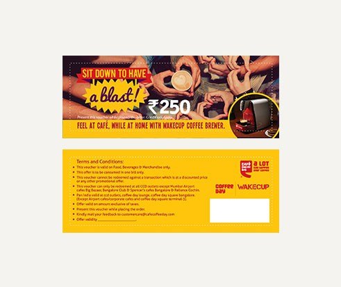 Gift Vouchers Rs 250 From Coffee Day Present To Your