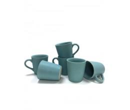 Blue Plain Mug - Set of 6