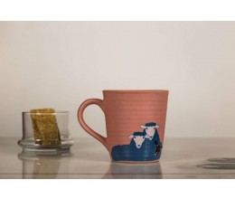 Ceramic Printed Mug - Black Sheep of the family (Pink)