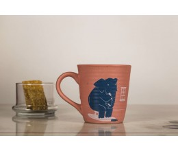 Ceramic Printed Mug - Elephant in the Room (Pink)