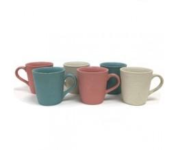 Mixed Color Combination Plain Mug - Set of 6