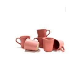 Pink Plain Mug - Set of 6