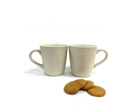 White Plain Mug - Set of 2