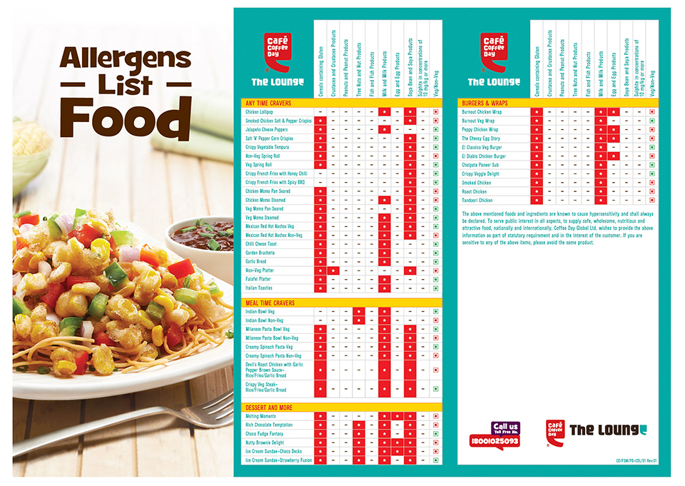 CCD Allergens_Lounge list Food Menu