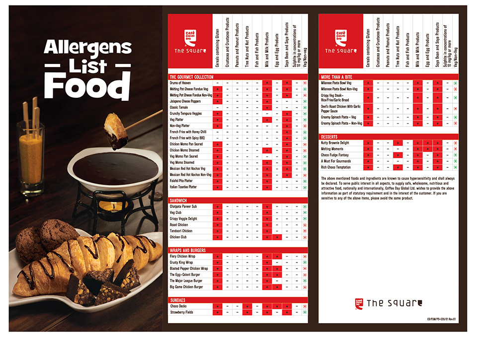CCD Allergens_Square list Food Menu