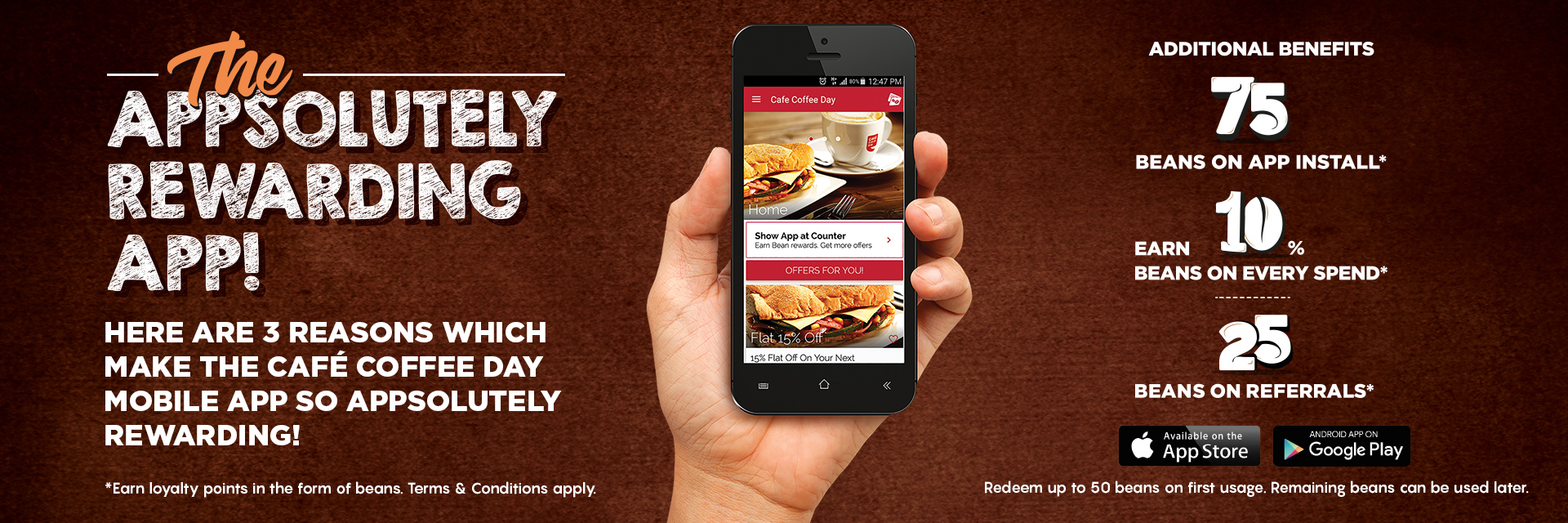 Café Coffe Day Rewards App
